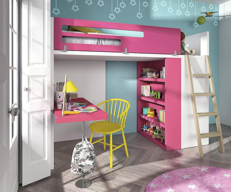 Habitación de los Niños Vita 43 Cama Alta con Escalera Armario y Cama, gemütlich, Elegir sin más Precio: Amazon.es: Juguetes y juegos