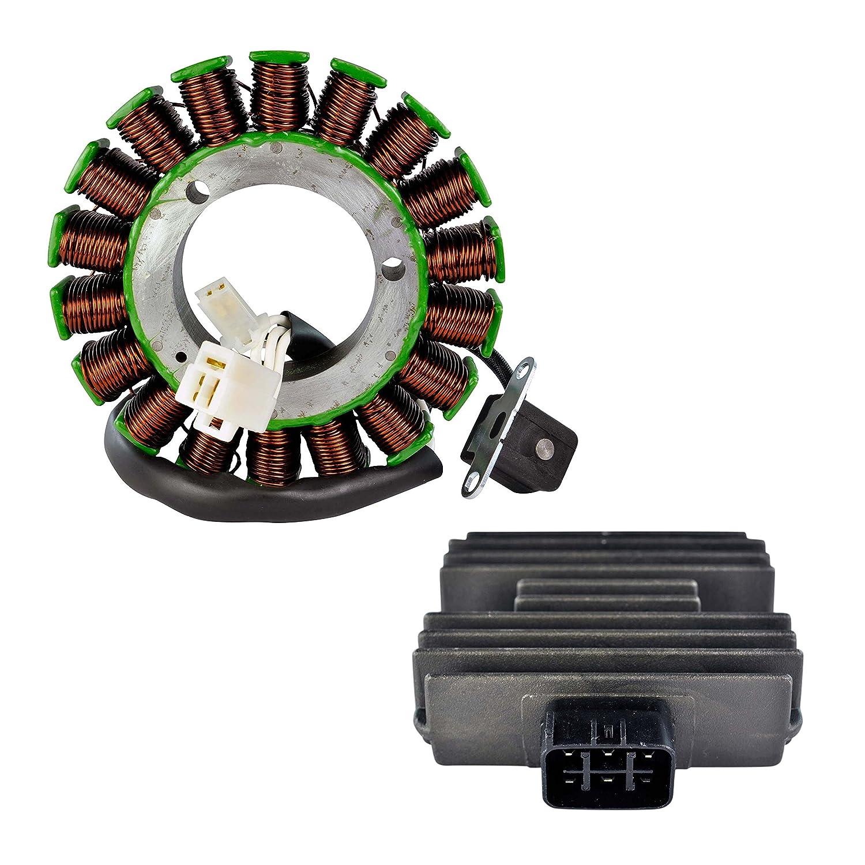 Kit Generator Stator + Voltage Regulator Rectifier For Yamaha V Star 1100 XVS1100 1999 2000 2001 2002 OEM Repl.# 5EL-81410-00-00 5EL-81410-01-00 5BN-81960-00-00 XVS1100A RMSTATOR