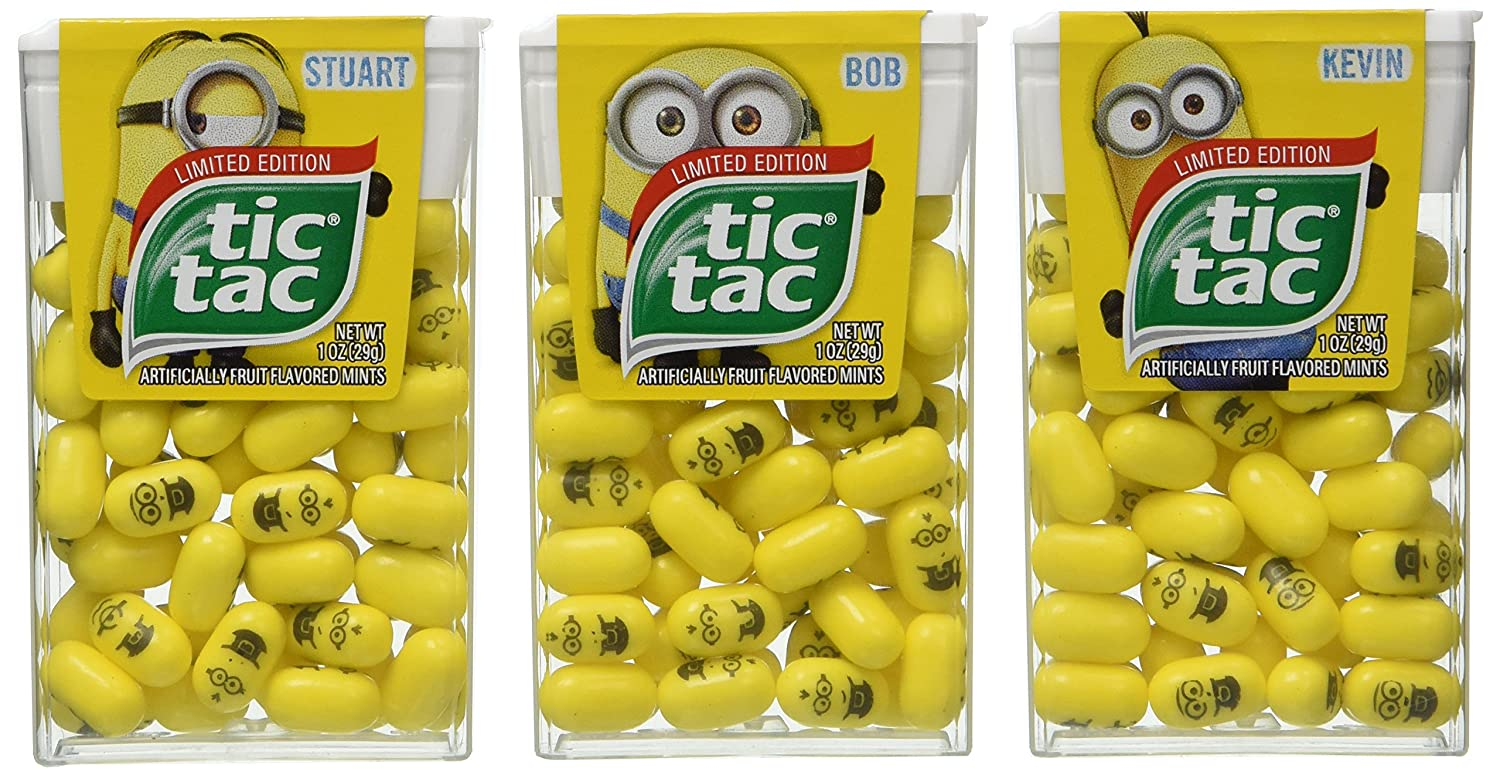 limited edition minions tic tac value 3 pack stuart