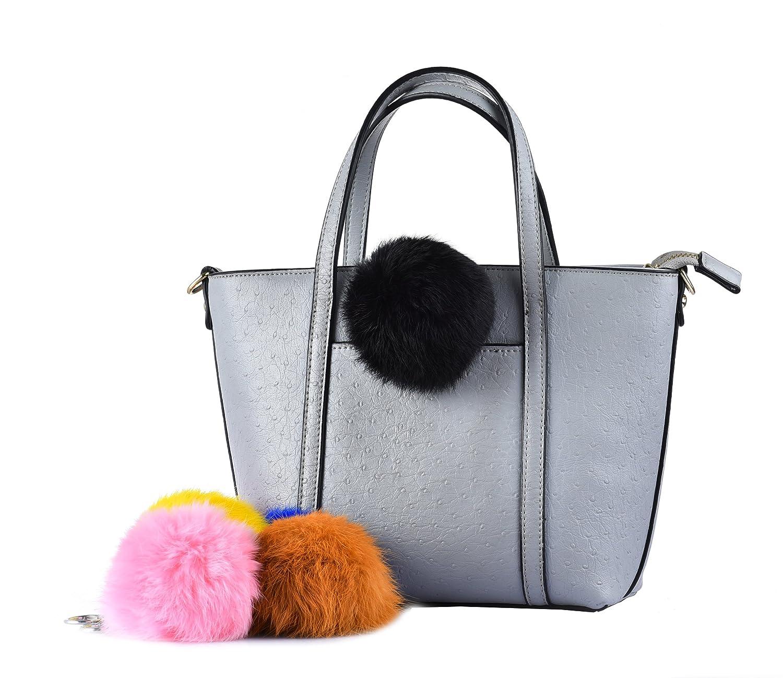 Amazon.com  Cityelf Rabbit Fur Ball Pom Pom Keychain Puff Ball Keyring  Fluffy Accessories Car Bag Charm (Black)  Home   Kitchen 652a579f2bc7c