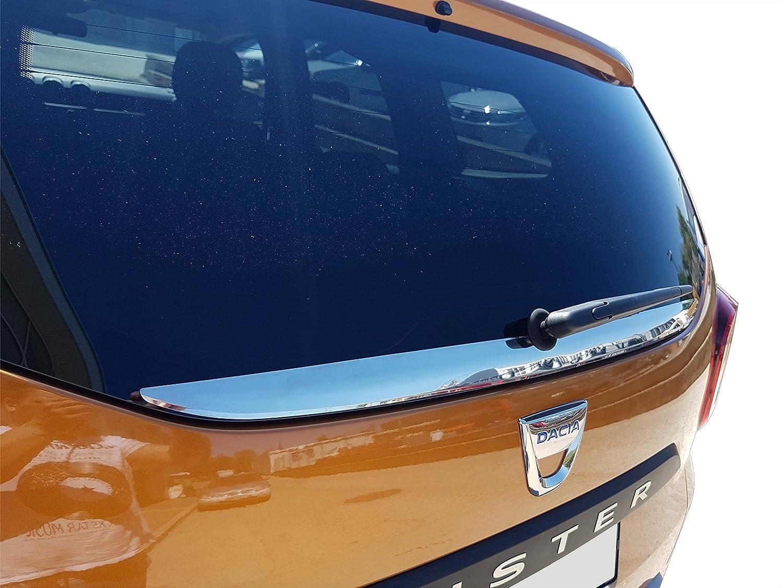 Sconosciuto Lucidato a specchio in acciaio INOX pannello posteriore della finestra di striscia per 2018 + accessori decorativi di cromato inox Unknown