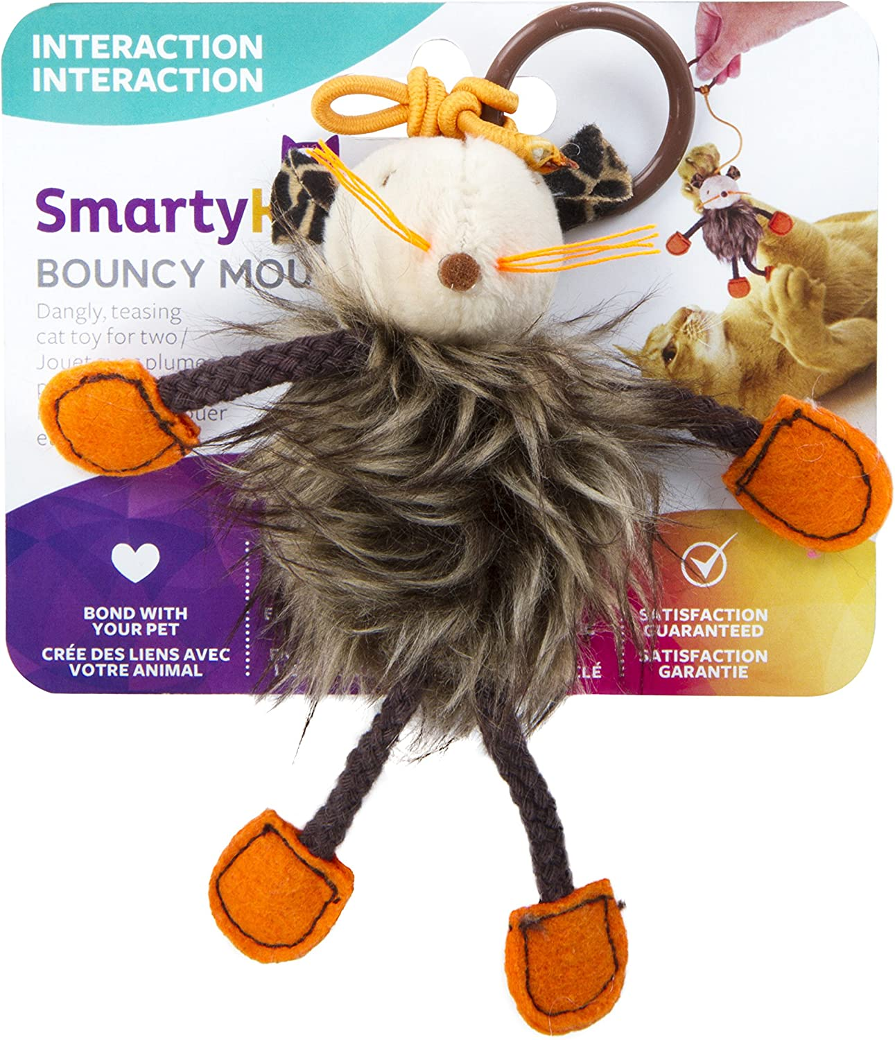 SmartyKat Bouncy Mouse Cat Toy Bungee Toy : Pet Mice And Animal Toys : Pet Supplies