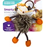 SmartyKat, Flutter Balls, Interactive Cat Toys, Soft Plush Balls, Teaser Toy, With Feathers, Set of 2