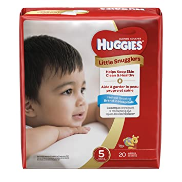 Huggies Little Snugglers Baby Diapers, Size 5, 20 Count, JUMBO PACK ( Packaging