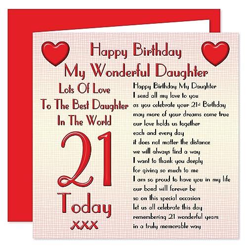 Daughter 21st Birthday Cards Amazon