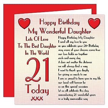 Daughter 21st Happy Birthday Card