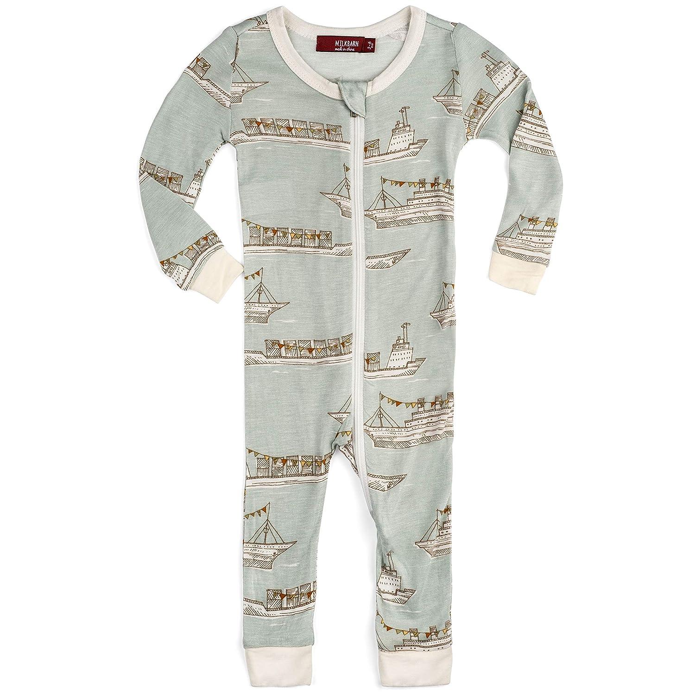 MilkBarn Bamboo Zipper Pajama Lion