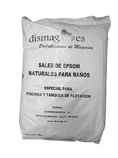 Sal de Epsom 25 Kg, Fuente concentrada de Magnesio, Sales 100% Naturales.