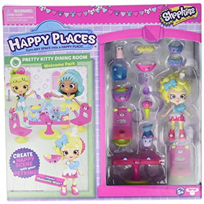 Shopkins Happy Places Season 3 Welcome Pack - Pretty Kitty Dining Room: Toys & Games