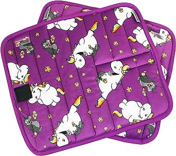 EQuest Pummeleinhorn 3.0-2er Set Bandagenunterlagen mit Pummel /& Kuri in purple 552200