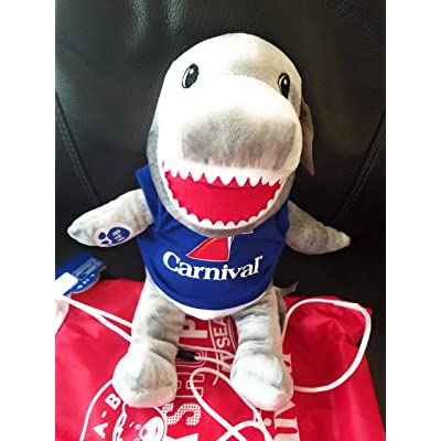 Build A Bear Toothy Shark 16 in. Stuffed Plush Toy Animal Puppet: Toys & Games