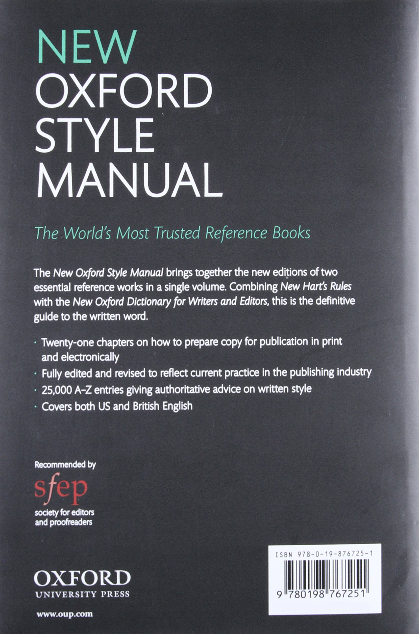 New Oxford Style Manual: Amazon.co.uk: Oxford University Press:  9780198767251: Books
