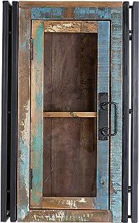 The Wood Times Bad Hängeschrank Massiv Vintage Look, Mangoholz Massiv,  BxHxT 45x72x20 Cm