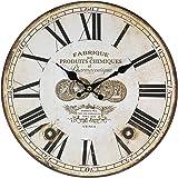 Perla PD Design Orologio da parete orologio da cucina vintage design ca. Ø 28cm, Legno, Fabrique