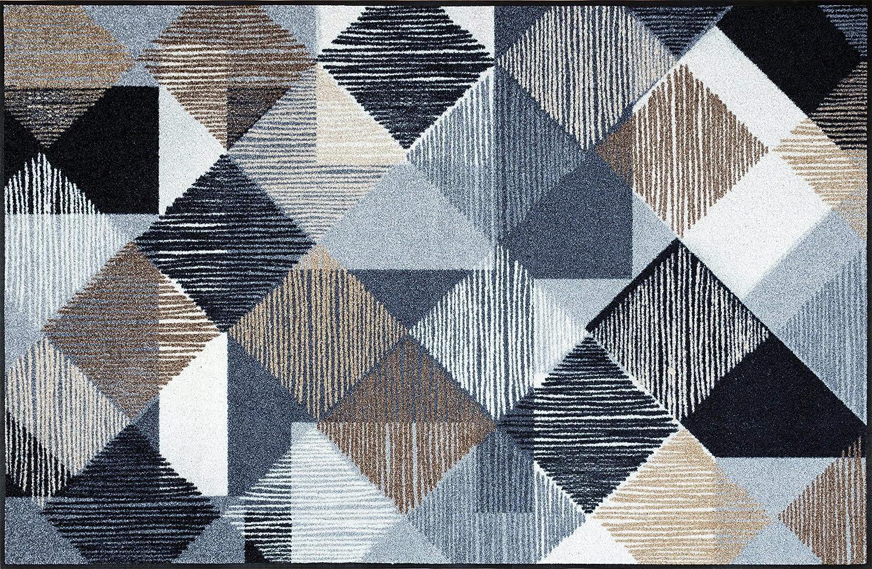Wash+dry Fußmatte Lines and Boxes 115x175 cm
