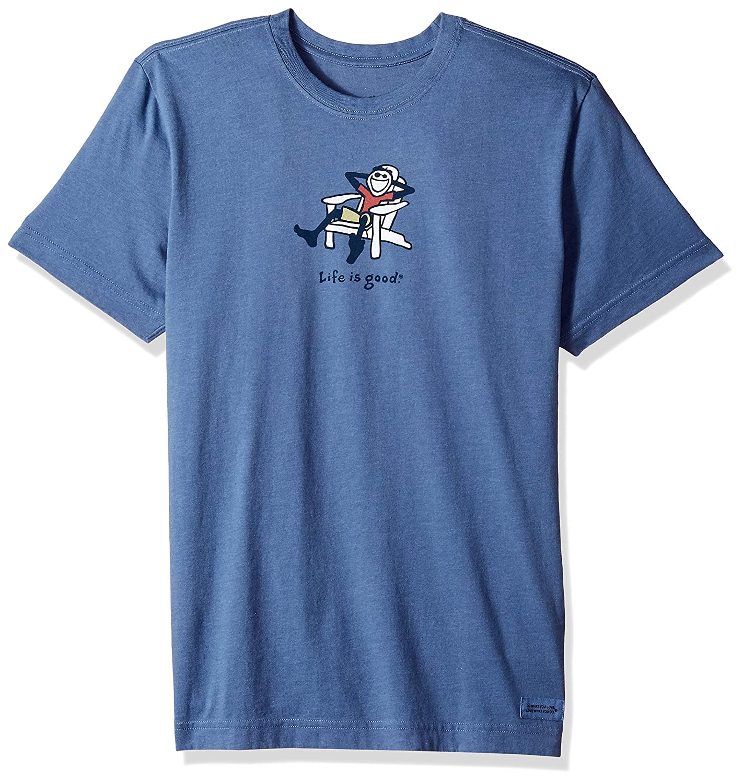 3041bbfcc5e477 Amazon.com: Life is Good Men's Adirondack Jake Vintage Crusher Tee: Clothing