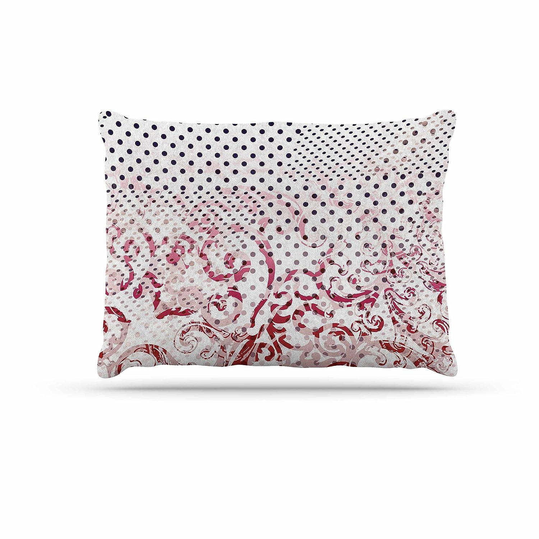 KESS InHouse Victoria Krupp Mixing Dots Red Digital Dog Bed, 50  x 40