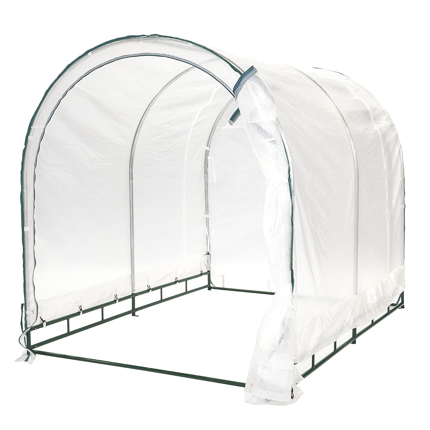 TrueShelter GH68 6 x 8 Green House, Large, White Silver