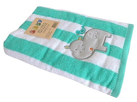 Toalla Grande para bebés/niños ~ hipopótamo hipopótamo ~ Toalla Toalla TOALLA de playa