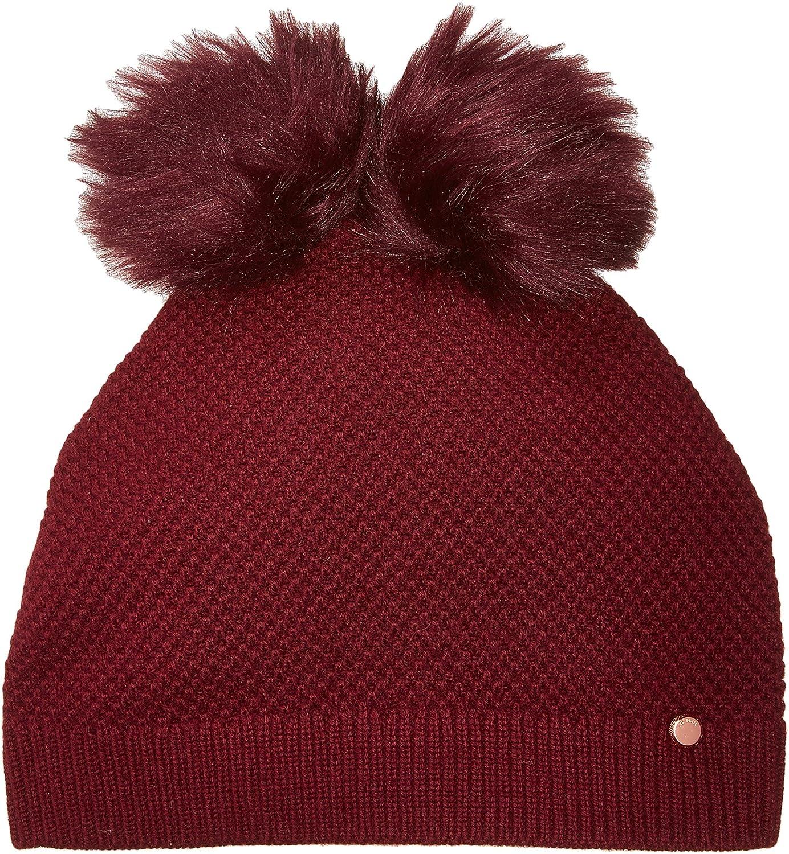 37837b8cb90df Ted Baker womens XA7W-XN09-INITA Double Pom Pom Beanie Headwrap - red - One  Size  Amazon.com.au  Fashion