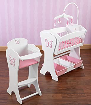 High Quality Kidkraft Pretty Pink Butterfly Doll Furniture Set