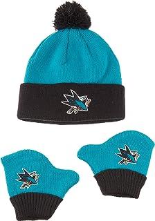 low priced b5a5e a3d7c OTS NHL Unisex-Baby NHL Infant Pow Pow Knit Cap   Mittens Set