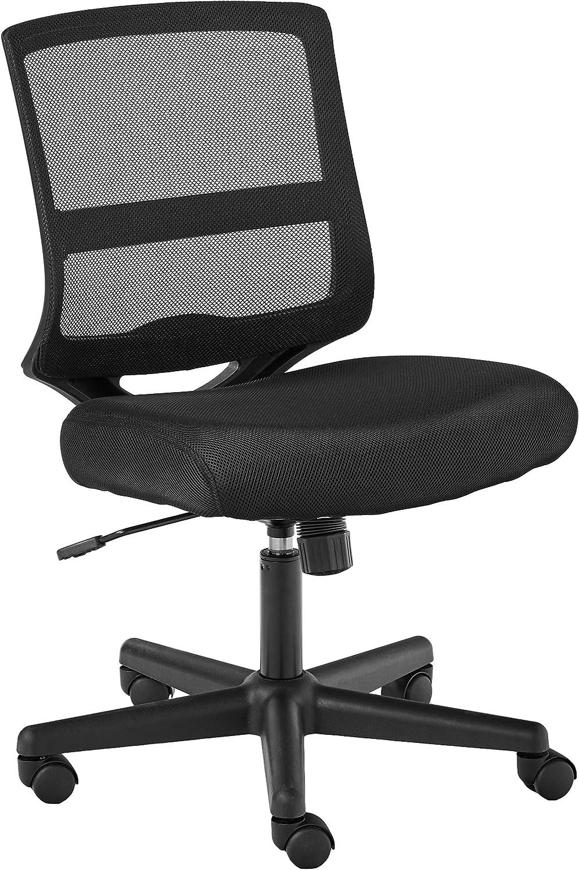 HON ValuTask Mid-Back Mesh Task Chair, Armless Black Mesh Computer Chair  (HVL4)