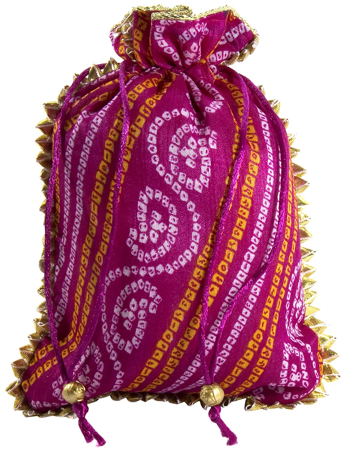 Amazon.com: Desi Favors Set of 4 Assorted Potlis/batwa/Drawstring ...