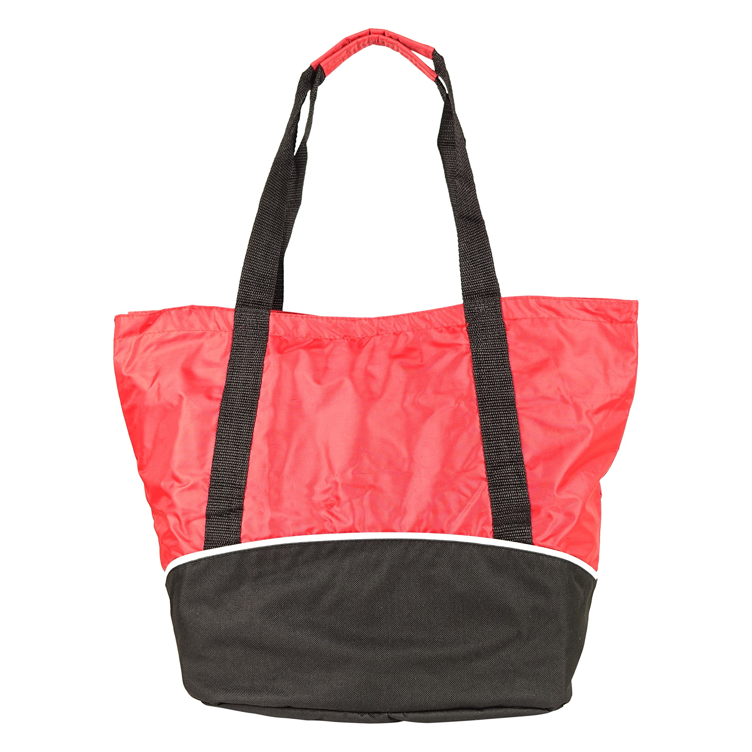 NuFazes 18'' x 14'' Fashionable Polyester/Nylon Shopping Bag (Tote) - 48 Pack