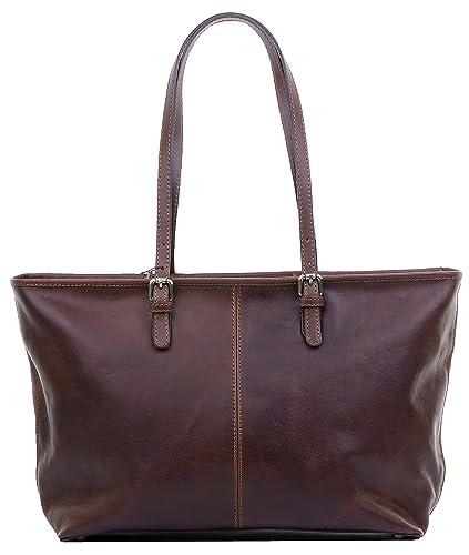 Luxury Ladies Italian Leather Hand Made Long Adjustable Handled Dark Brown  Large Tote Grab Bag or e411ecc06a