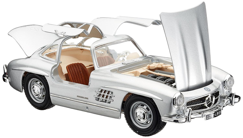 Bburago Mercedes Benz 300 SL Plata Coche de Juguete Color Plateado 18-12047S
