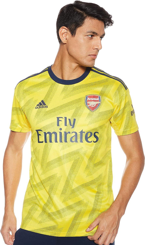 Amazon Com Adidas Arsenal 2019 20 Mens Short Sleeve Away Football Jersey Shirt Yellow Clothing