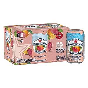 Sanpellegrino Prickly Pear and Orange Sparkling Fruit Beverage, 11.15 fl oz. Cans (6 Pack)