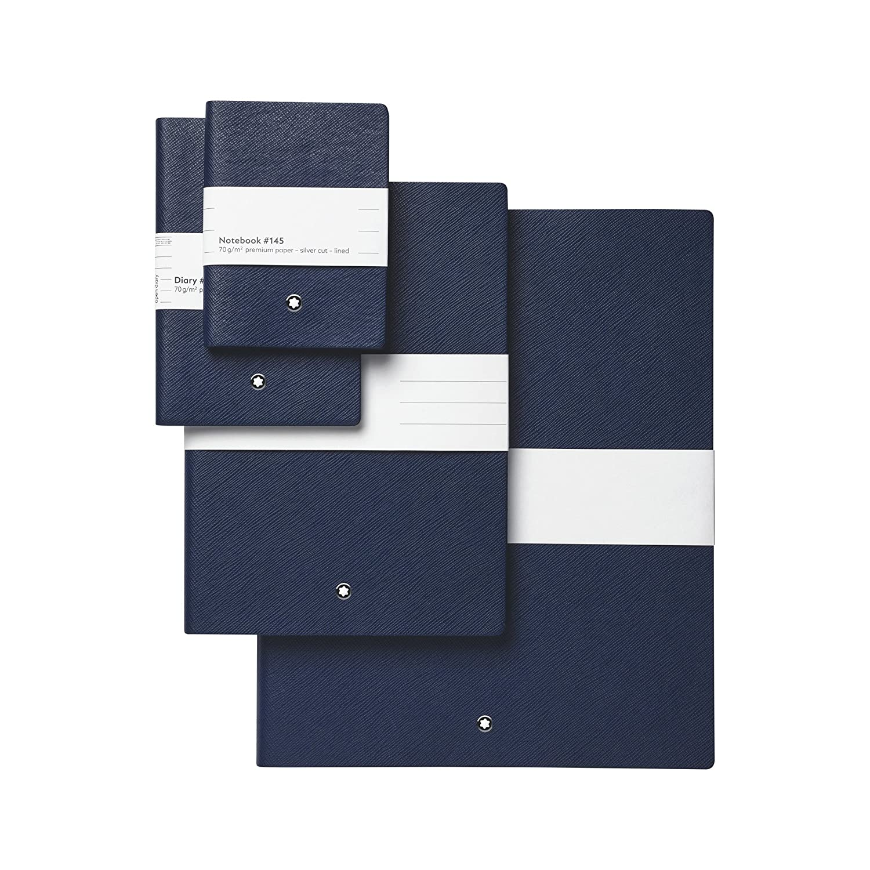 Montblanc 113598 Cuaderno Fine Stationery #145 – Bloc de líneas A7, indigo