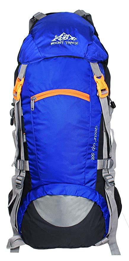 3be9537a724e MOUNT TRACK 50 Ltr Neon Blue-Black Rucksacks  Amazon.in  Bags ...