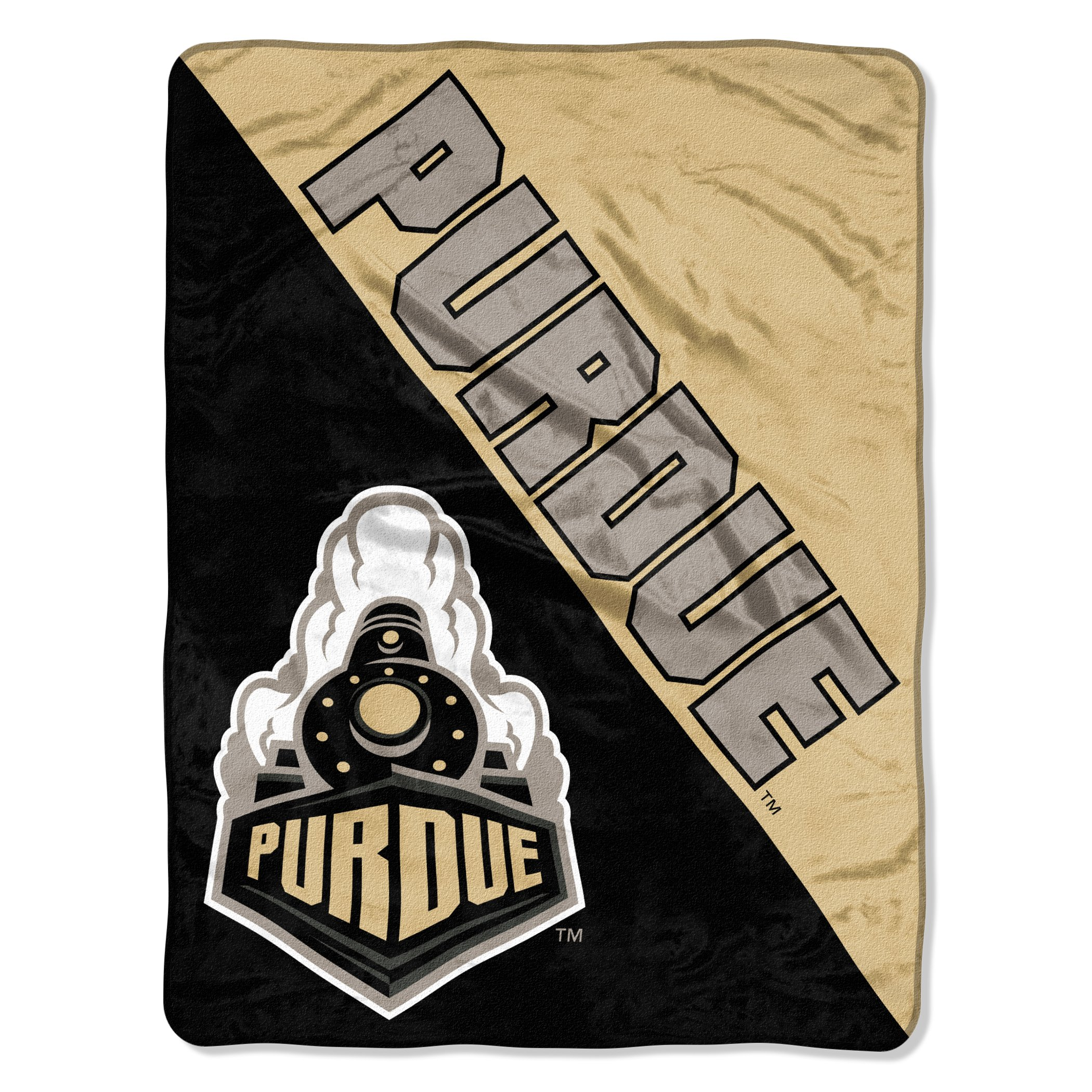 The Northwest Company Officially Licensed NCAA Purdue Boilermakers Halftone Micro Raschel Throw Blanket, 46'' x 60'', Multi Color by The Northwest Company