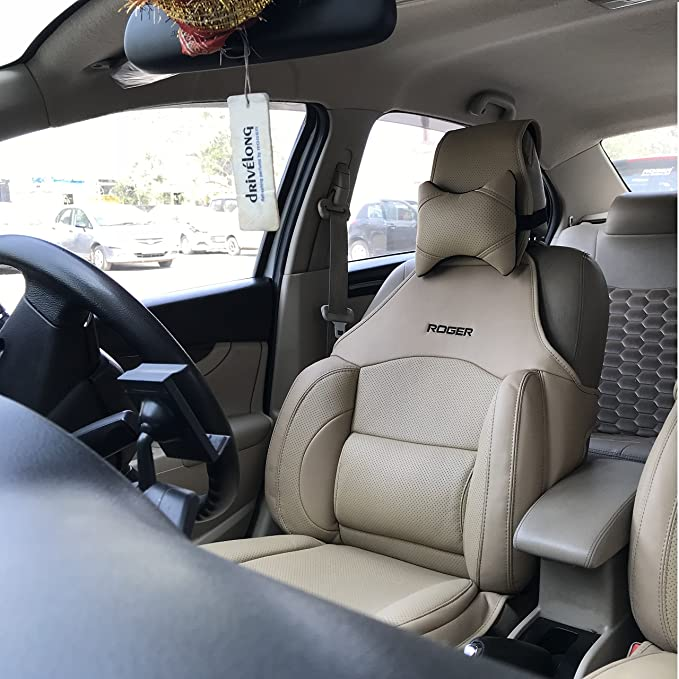 Swell Roger Cushport Synthetic Leather Multi Support Seat Cover Universal For All Cars Diy For 1 Seat Only Beige Gamerscity Chair Design For Home Gamerscityorg