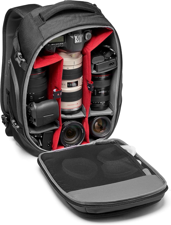 beschichteter Stoff Stativbefestigung mit variablen gepolsterten Trennw/änden Manfrotto MB MA2-BP-FM Advanced/² Fast Kamera- Laptop-Rucksack f/ür DSLR//CSC Kameras und Standardobjektive