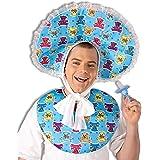 Forum Novelties Big Baby Deluxe Costume Accessory Bib and Bonnet Set, One Size