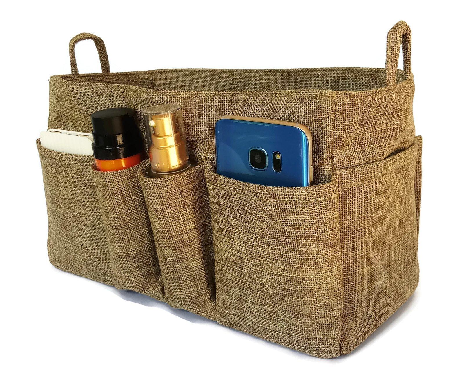 Large Purse Organize Insert, Tote Organizer, Handbag organizer : Large Size By K&M (Sand Brown)