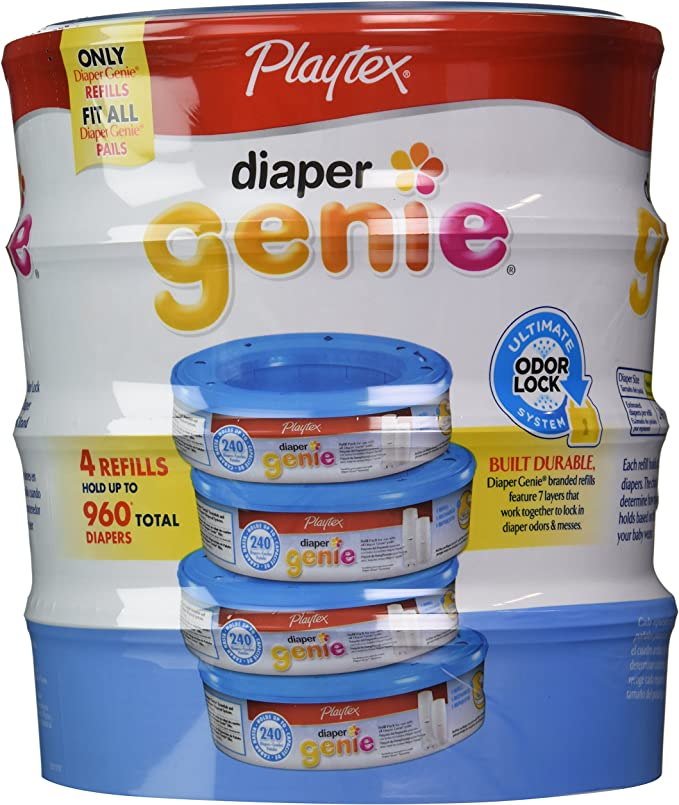 960 Count 7-Layers That Seal In Odor Playtex Baby Diaper Genie Refills