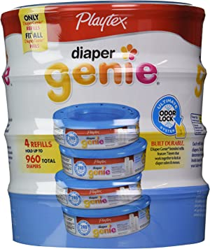 Playtex Diaper Genie Disposal System Refills, 240 Count (Pack of 4)