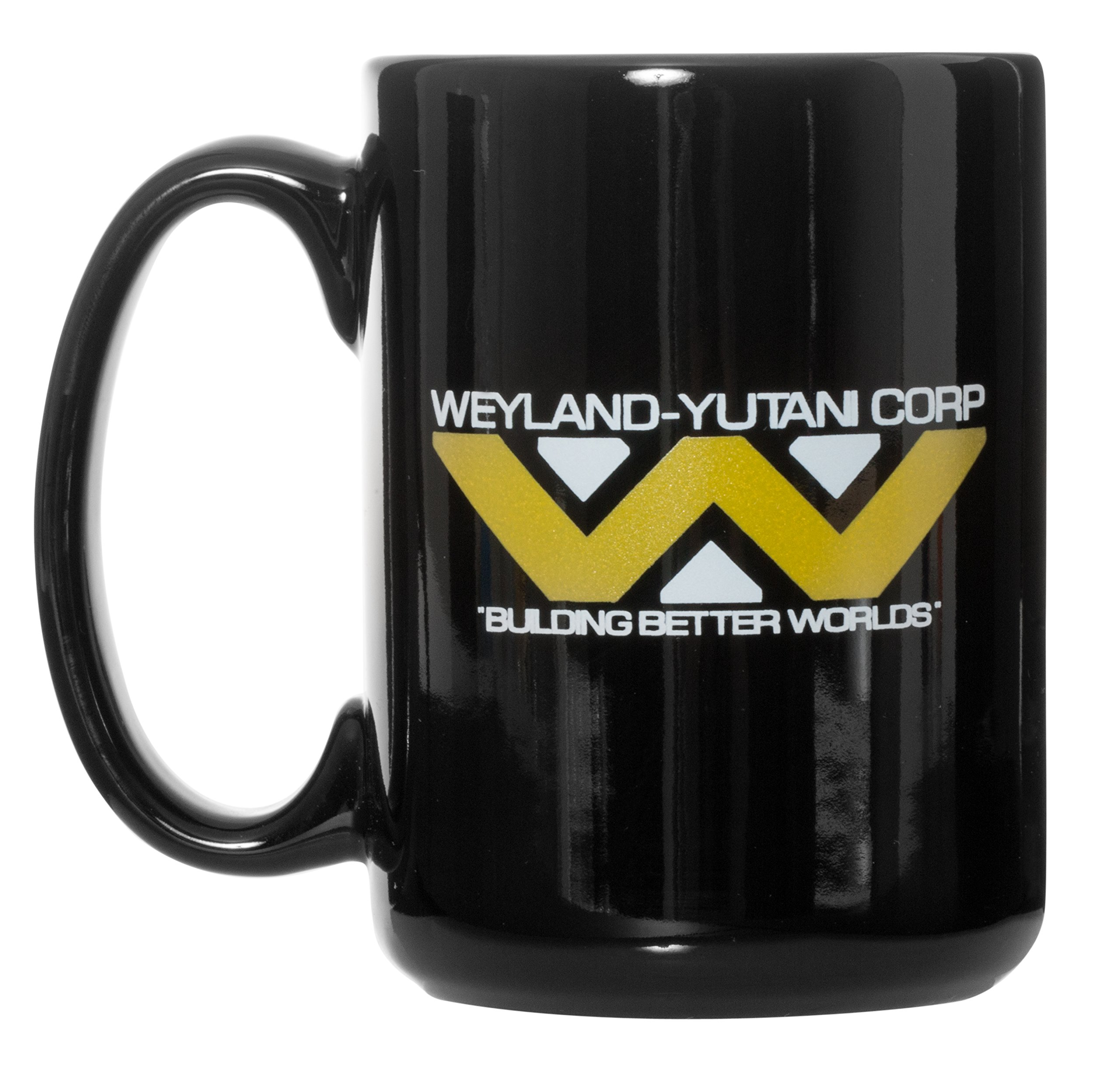Weyland-Yutani Corp Mug''Building Better Worlds'' - 15oz Deluxe Double-Sided Bistro Coffee Tea Mug (Black) (Black)