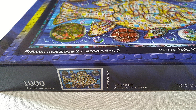 JaCaRou Puzzles Mosaic Fish 2 1000 Pieces Jigsaw Puzzle JaCaRou Puzzles Inc.