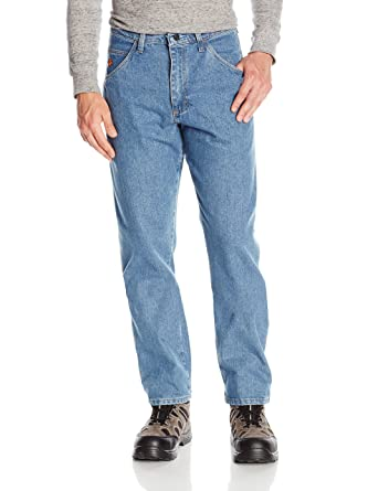 216cfecf Amazon.com: Wrangler Men's Flame Resistant Cool Vantage Relaxed Fit Jean:  Clothing
