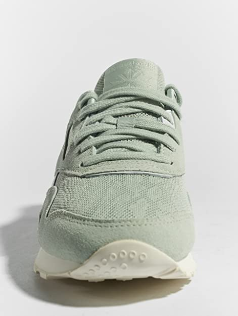 c012d4763f0 Reebok Women Sneakers Classic Nylon Cold Paste Green 40.5  Amazon.co.uk   Shoes   Bags