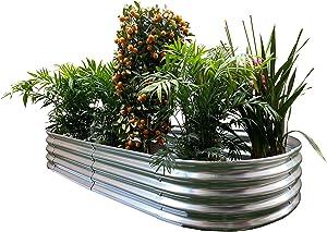 Oval Metal Raised Garden Bed Planter 82
