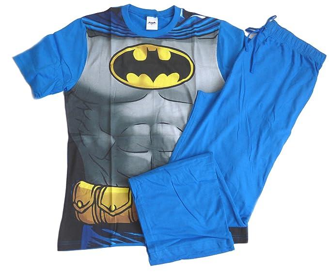 para Hombre Producto Oficial de DC Comics Batman Pijama Novelty Pijama Set Azul Azul Large