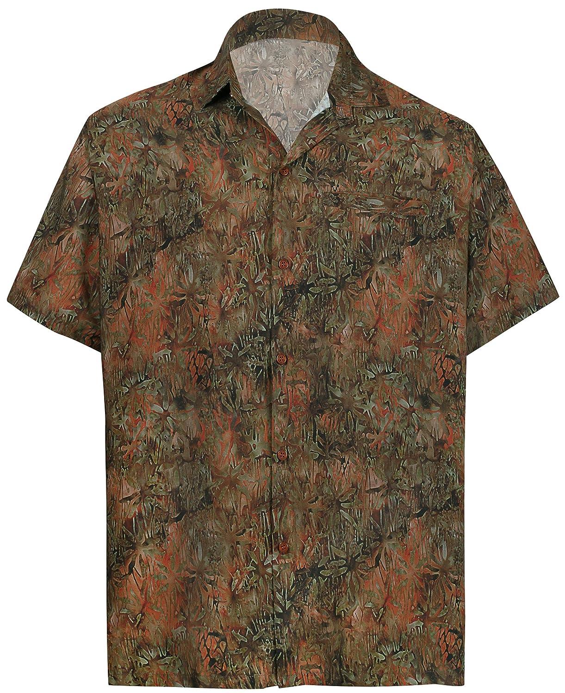 TALLA S - Pecho Contorno (in cms) : 96 - 101. HAPPY BAY botón de la Playa de los Hombres Abajo con Botones Aloha Partido