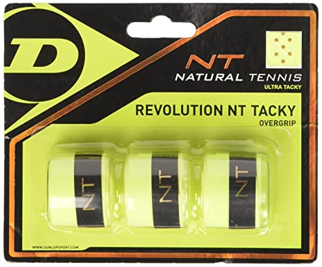 DUNLOP Over Grip Revolution NT Tacky 3 Unidades, Amarillo, One Size, 307088